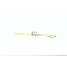ALFILER EN ORO CON BRILLANTE DE 0,06CT